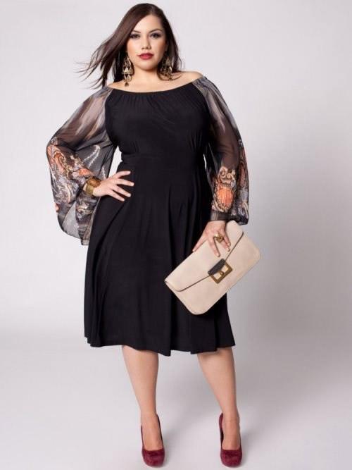 Велику роль в ошатному платті грає обробка суконь. Завдяки деяким  декоративним елементам дизайнери вдало маскують повноту фігури. Про це  пізніше. e8928bacde44a