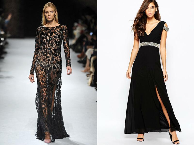 У колекціях Nina Ricci часто зустрічається довге чорне мереживне плаття 8243fd654a546