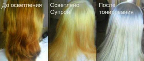 Как правильно осветлять волосы в домашних условиях краской 230