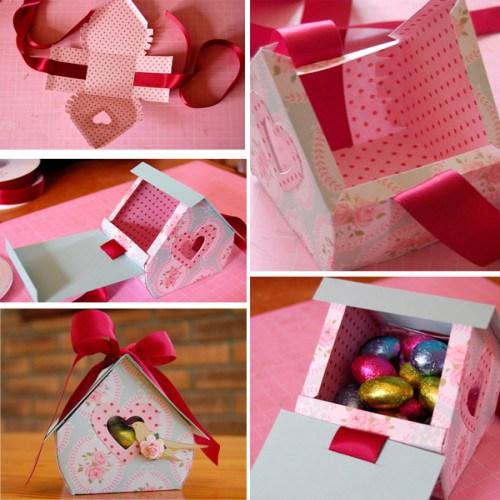Коробочки для подарков сделано руками 290