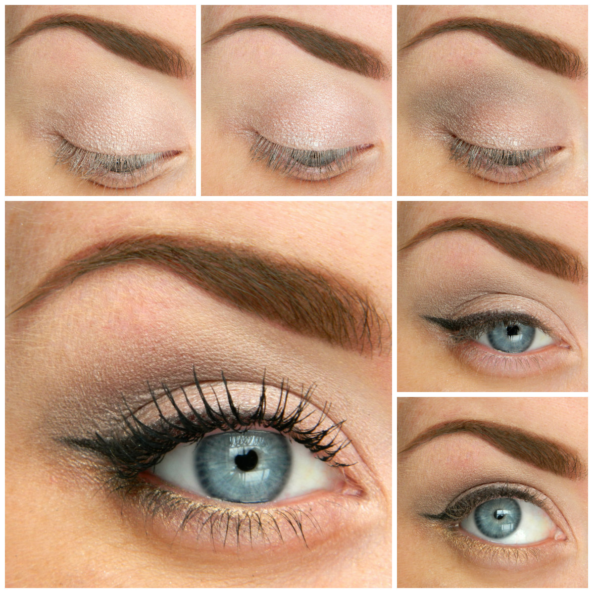 Makeup On A Date For Blue Eyes Make Up With Bright Colored Shadows